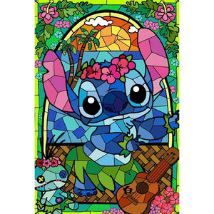 BLUE KOALA STAINED GLASS  Diamond Painting Kit