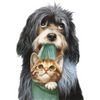 DOG WITH CAT Diamond painting Kit - DAZZLE CRAFTER