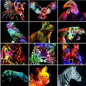 NEON MULTICOLOR ANIMAL SERIES Diamond Painting Kit - DAZZLE CRAFTER