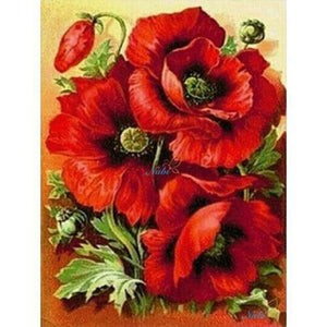RED POPPY FLOWERS Diamond Painting Kit