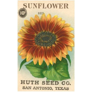 VINTAGE SUNFLOWER SEED PACKET Diamond Painting Kit - DAZZLE CRAFTER