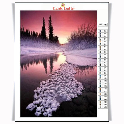 Image of WINTER SUNSET Diamond Painting Kit
