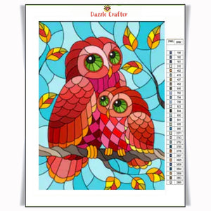 OWL WITH BABY Diamond Painting Kit