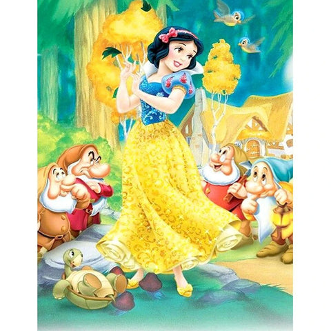Image of SNOW WHITE AND SEVEN DWARFS Diamond Painting Kit
