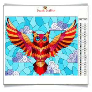 OWL IN FLIGHT  Diamond Painting Kit - DAZZLE CRAFTER