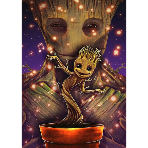 BABY GROOT  Diamond Painting Kit