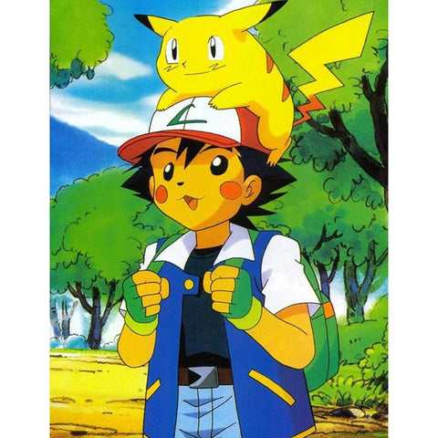ASH & PIKACHU Diamond Painting Kit