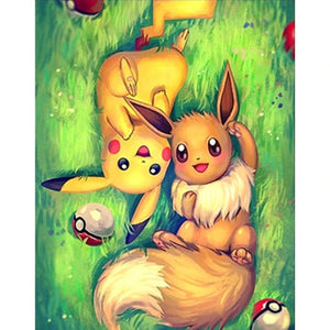 PIKACHU & EEVEE Diamond Painting Kit