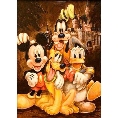 MICKEY DONALD & GOOFY Diamond Painting Kit