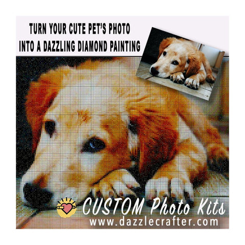 Image of CUSTOM PHOTO Diamond Painting Kit [ PETS ]