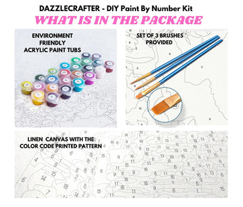 MT FUJI JAPAN & CHERRY BLOSSOMS - DIY Adult Paint By Number Kit