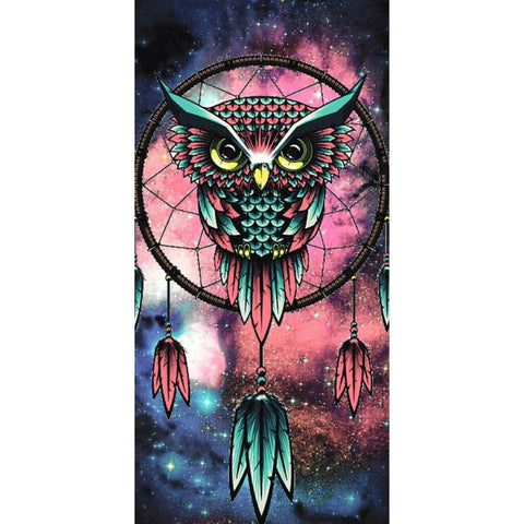 Image of DREAMY OWL DREAMCATCHER Diamond Painting Kit - DAZZLE CRAFTER