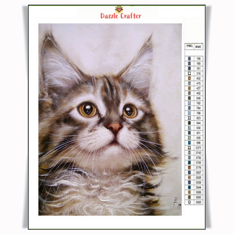Image of GAZING CAT Diamond Painting Kit - DAZZLE CRAFTER
