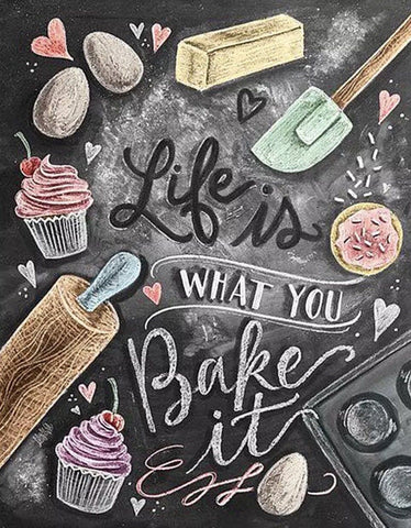 Life Is What You Bake It Diamond Painting Kit - DAZZLE CRAFTER