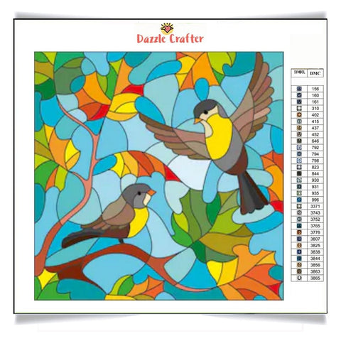 Image of SINGING SPARROWS Diamond Painting Kit - DAZZLE CRAFTER