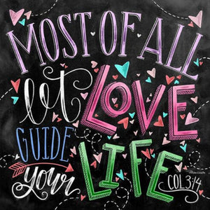 CHALKBOARD QUOTES - LET LOVE GUIDE YOUR LIFE Diamond Painting Kit - DAZZLE CRAFTER