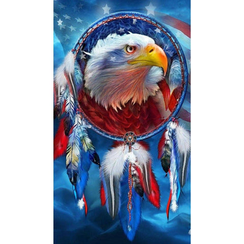Image of AMERICAN EAGLE DREAMCATCHER Diamond Painting Kit - DAZZLE CRAFTER