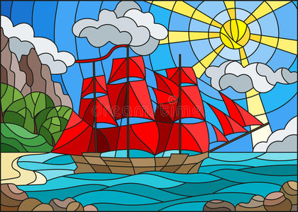 RED SAILS Diamond Painting Kit