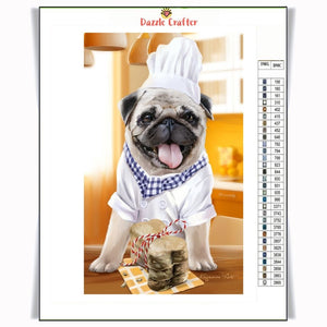 LITTLE CHEF DOG Diamond Painting Kit
