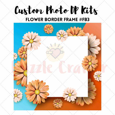 Image of CUSTOM PHOTO WITH FLOWER FRAME - MAKE YOUR OWN DIAMOND PAINTING