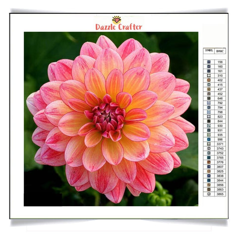 Image of PINK DAHLIA Diamond Painting Kit - DAZZLE CRAFTER