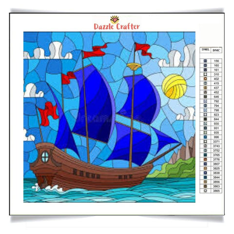 Image of BLUE SAILS Diamond Painting Kit