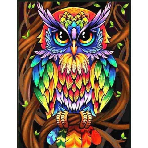 Image of MULTICOLOR OWL Diamond Painting Kit