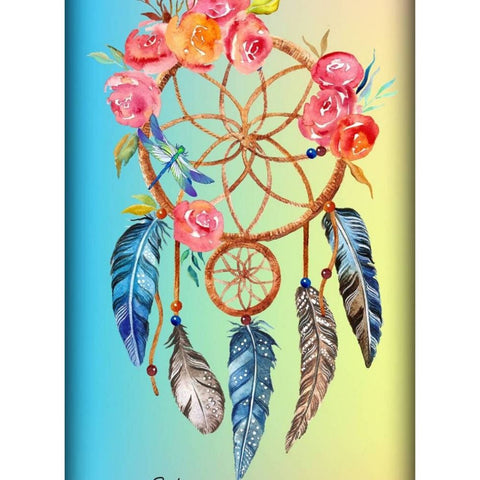 Image of PINK FLOWERS DREAMCATCHER Diamond Painting Kit - DAZZLE CRAFTER