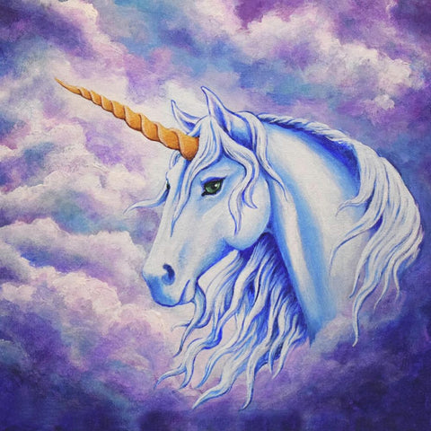 Image of UNICORN WITH GRACE Diamond Painting Kit - DAZZLE CRAFTER