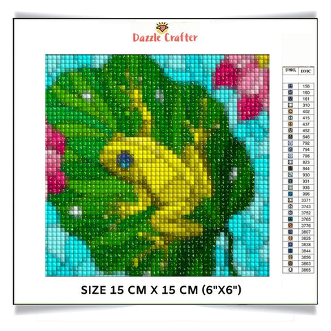 Image of FLOATING FROG IN THE RIVER Diamond Painting Kit - DAZZLE CRAFTER