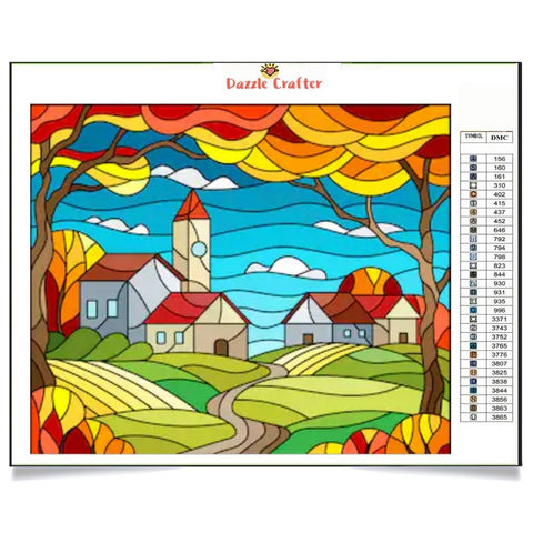 VILLAS IN THE VALLEY Diamond Painting Kit