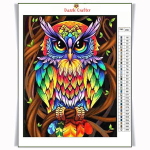 MULTICOLOR OWL Diamond Painting Kit