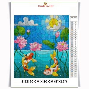 DANCING FISH IN THE WATER Diamond Painting Kit - DAZZLE CRAFTER