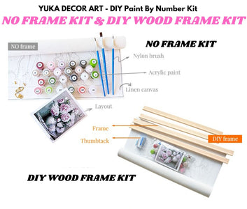 PRETTY KITTEN IN THE GARDEN  - DIY Adult Paint By Number Kit