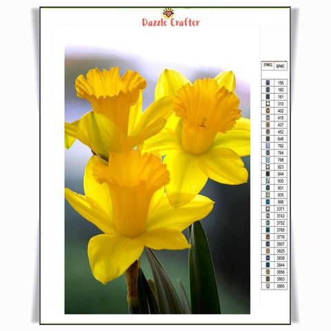 Image of PRETTY YELLOW FLOWERS Diamond Painting Kit