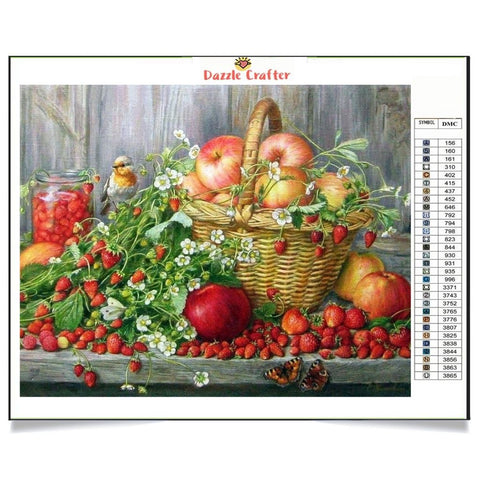 Image of FRUITS BASKET Diamond Painting Kit - DAZZLE CRAFTER