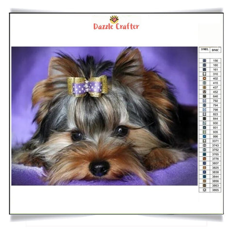 Image of DAINTY DARLING DOG Diamond Painting Kit