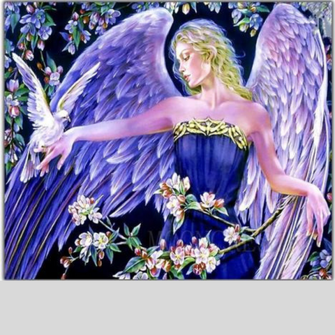 Image of PURPLE ANGEL GIRL Diamond Painting Kit - DAZZLE CRAFTER