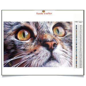 GREEN EYES KITTY  Diamond Painting Kit - DAZZLE CRAFTER