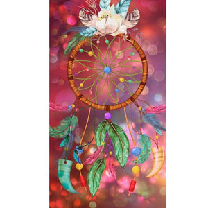 RADIANT VIBES DREAMCATCHER  Diamond Painting Kit - DAZZLE CRAFTER