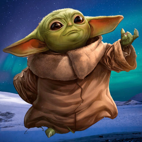 Image of BABY YODA  Diamond Painting Kit