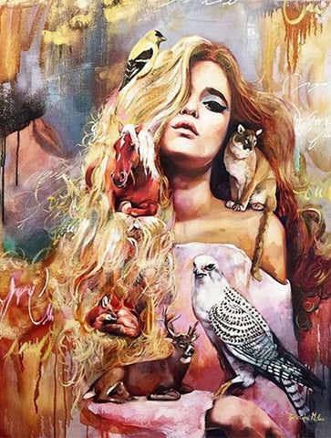 Image of EXOTIC WOMEN SERIES - PAINT BY NUMBERS DIY KIT - DAZZLE CRAFTER