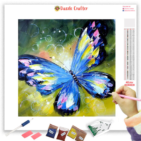 Image of WATERCOLOR  BUTTERFLY Diamond Painting Kit