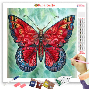 RED MAGIC BUTTERFLY Diamond Painting Kit