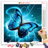 NEON BLUE BUTTERFLY Diamond Painting Kit
