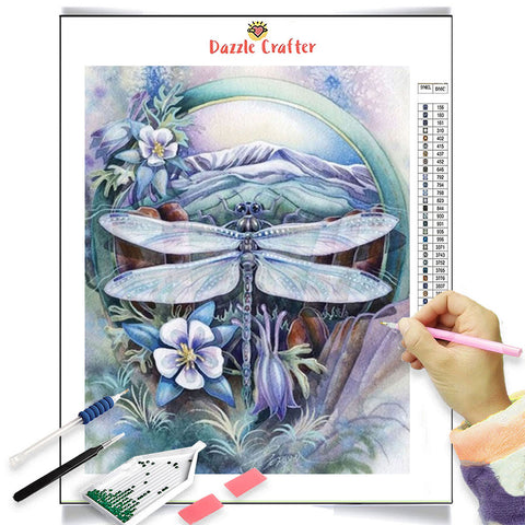 Image of LILAC DRAGONFLY Diamond Painting Kit