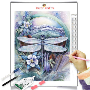 LILAC DRAGONFLY Diamond Painting Kit
