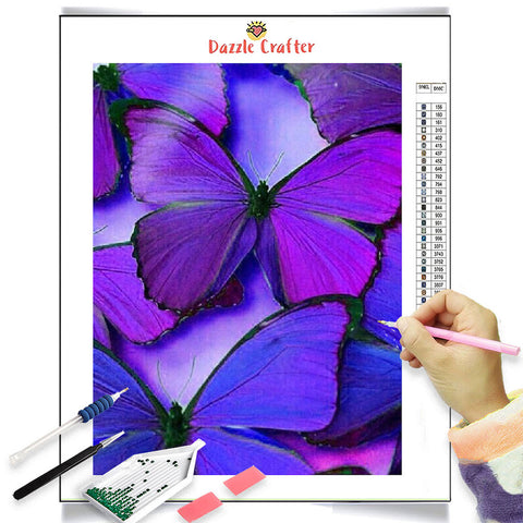 Image of VIOLET BEAUTIES BUTTERFLY Diamond Painting Kit