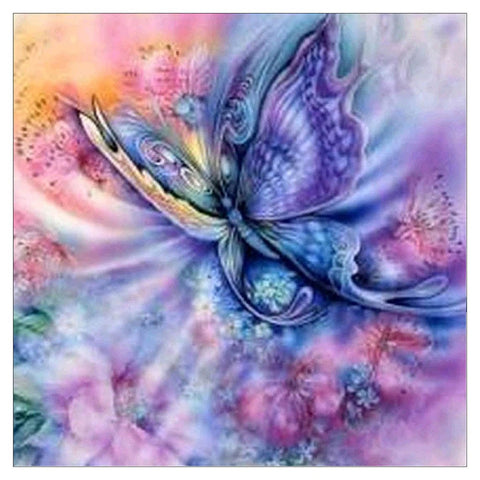 Image of DAZZLING LILAC BUTTERFLY Diamond Painting Kit