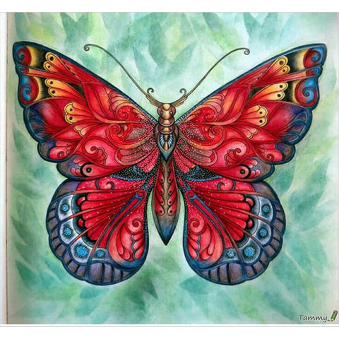 Image of RED MAGIC BUTTERFLY Diamond Painting Kit